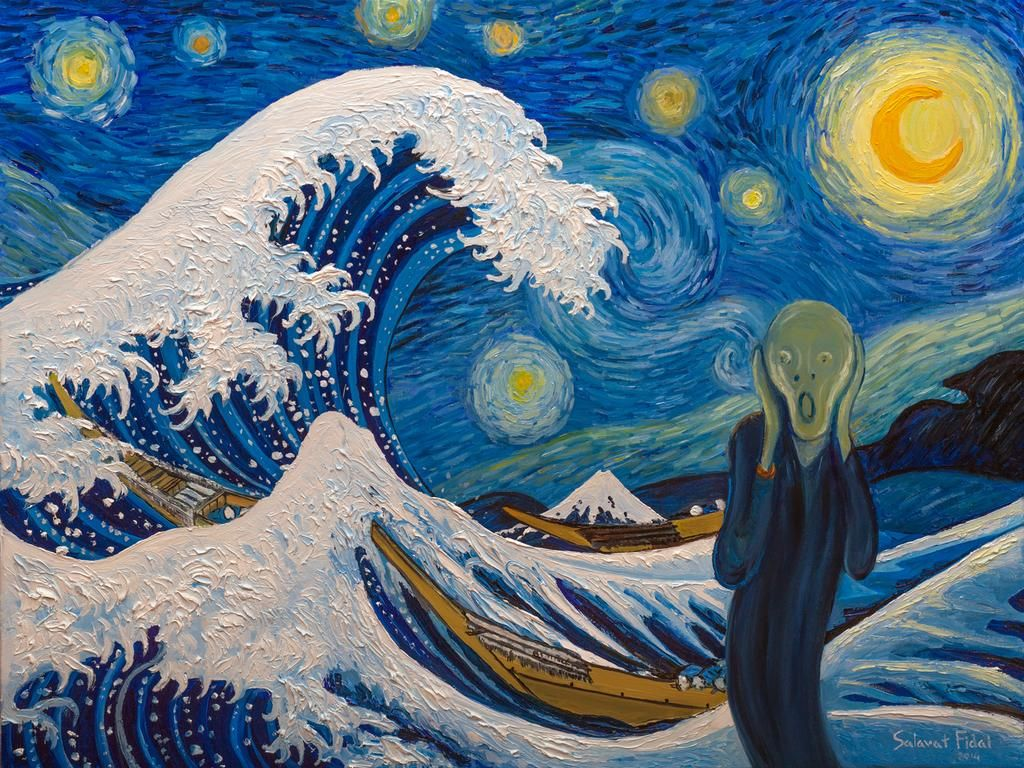 77 best variations on the great wave off kanagwa images on