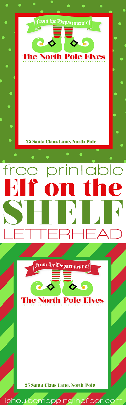 Free Printable Elf Letterhead Elf letters, Elf, Elf on