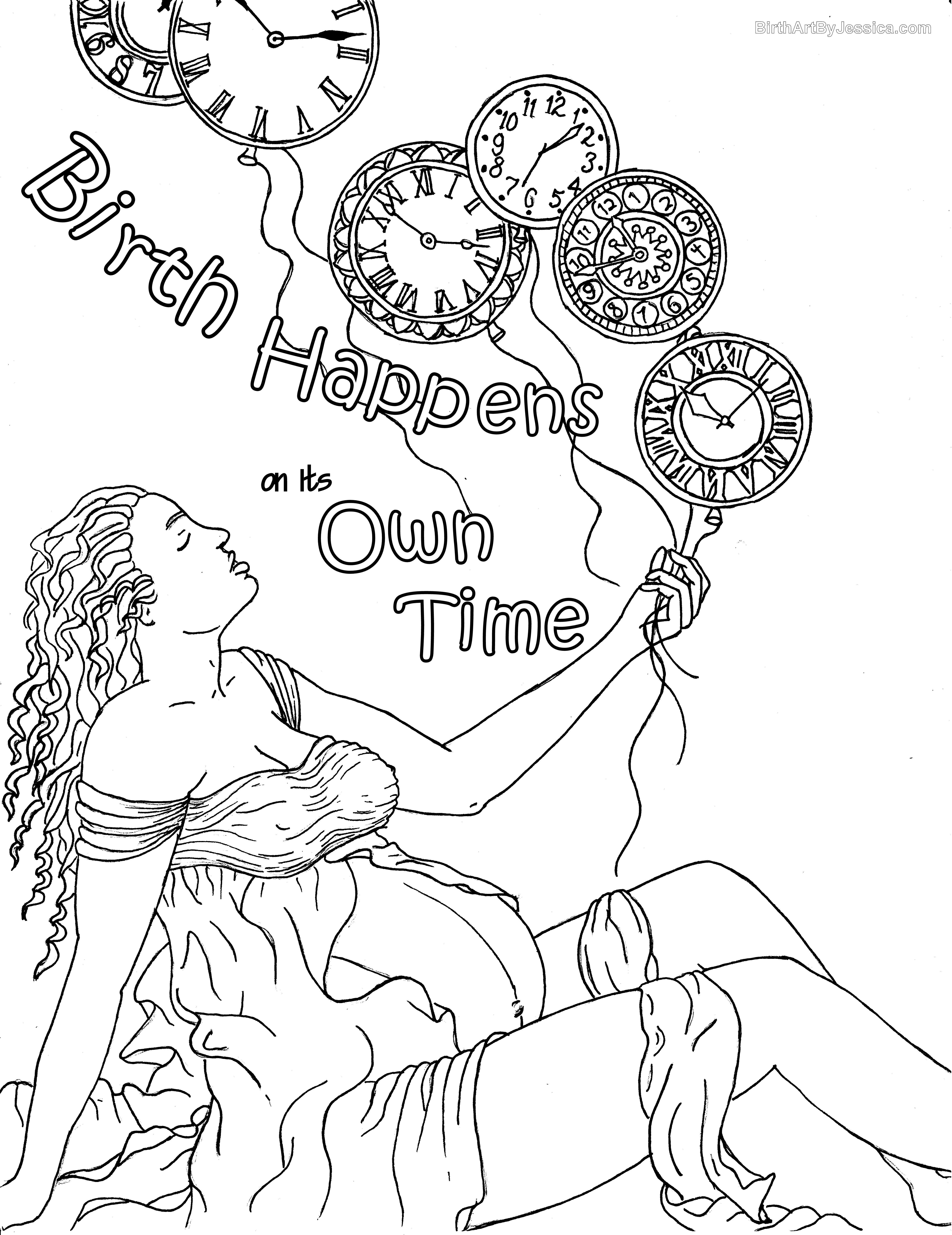 Birth Affirmation Coloring Page Free Printable Birth Affirmations Birth Art Coloring Books