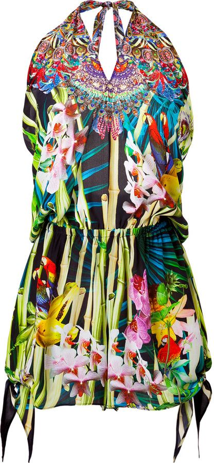 Camilla Tie Detail Playsuit on shopstyle.com