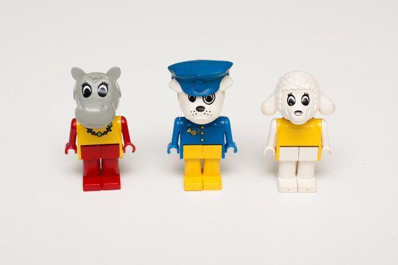 Vintage des années 80 beaucoup de Lego Fabuland par TimeForMemories