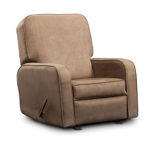 Shermag Upholstered Glider With Footrest Buckwheat