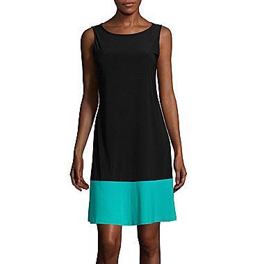 jcp | RN Studio by Ronni Nicole Sleeveless Colorblock Shift Dress