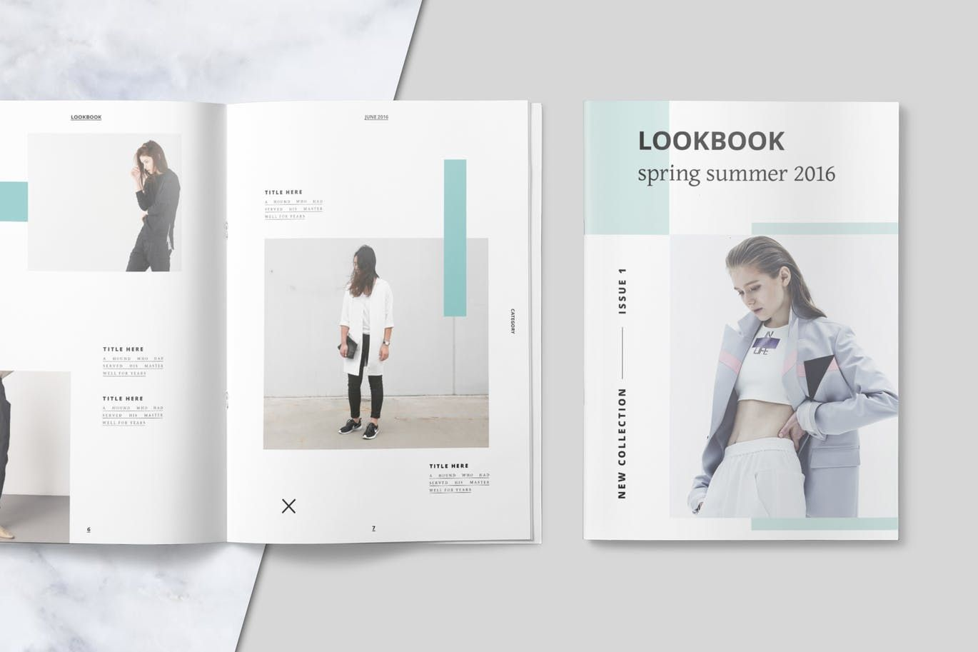 this is a clean and modern indesign template for lookbook magazine