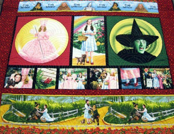 Wizard of Oz Lap Quilt by Quiltsbybarb on Etsy | Quilted wall ... : quilts by the oz - Adamdwight.com