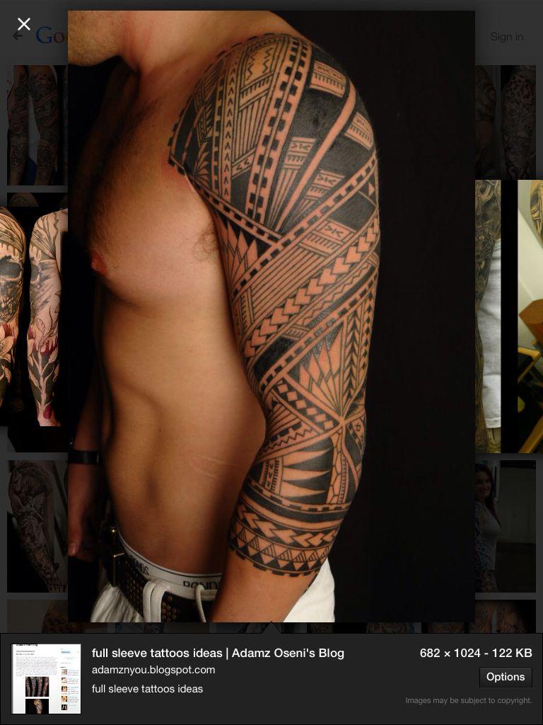 Tribal tattoo sleeve my tattoo pinterest tattoo guy tattoos