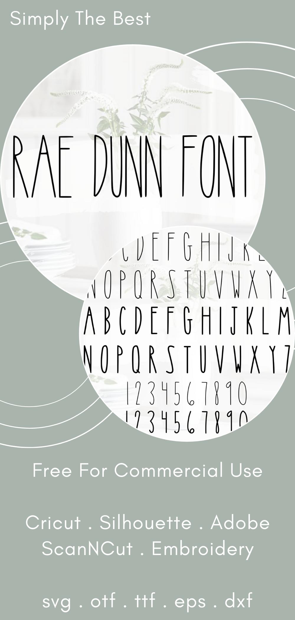 Rae Dunn Font in 2020 Cricut fonts, Cricut, Silhouette fonts