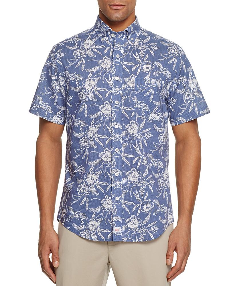 73.88$  Watch now - http://viudr.justgood.pw/vig/item.php?t=8l1q0v83201 - Vineyard Vines Aquatic Hibiscus Dot Murray Regular Fit Button-Down Shirt 73.88$