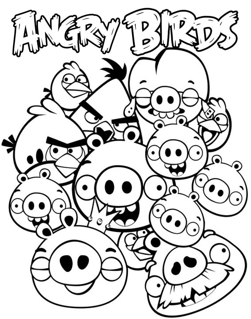 Kolorowanka Ze Swinkami Z Angry Birds In 2020 Bird Coloring Pages Angry Birds Pigs Cartoon Coloring Pages