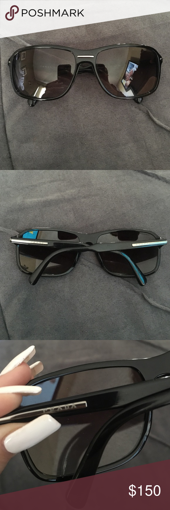 Prada Sunglasses. Look brand new! Men's Case and cleaning cloth included Prada Other