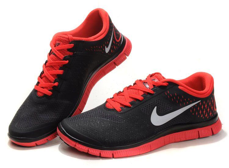 womens nike free run 4.0 grey red
