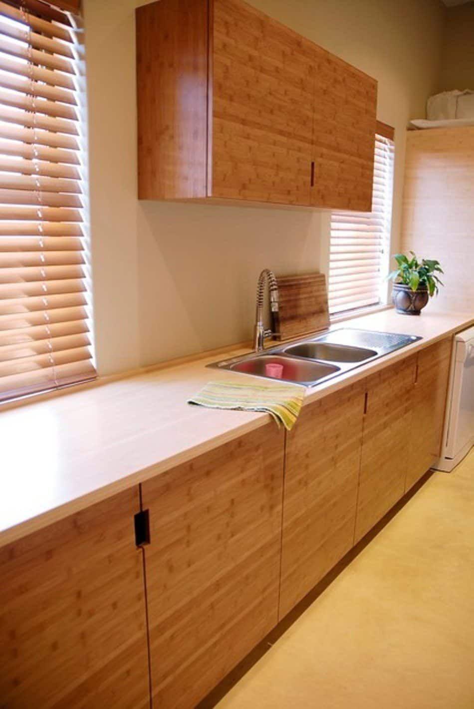 Herausragende Und Eco Friendly Bamboo Arbeitsplatten Kuchenzeile Die Erste Art Von Bambus Arbeitsplatten Sind Eigen Minimalist Kitchen Countertops Cabinet