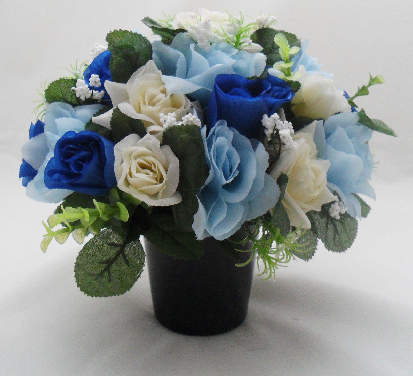 Personalised Message Memorial Vase Grave Flower Bowl Cemetery ...