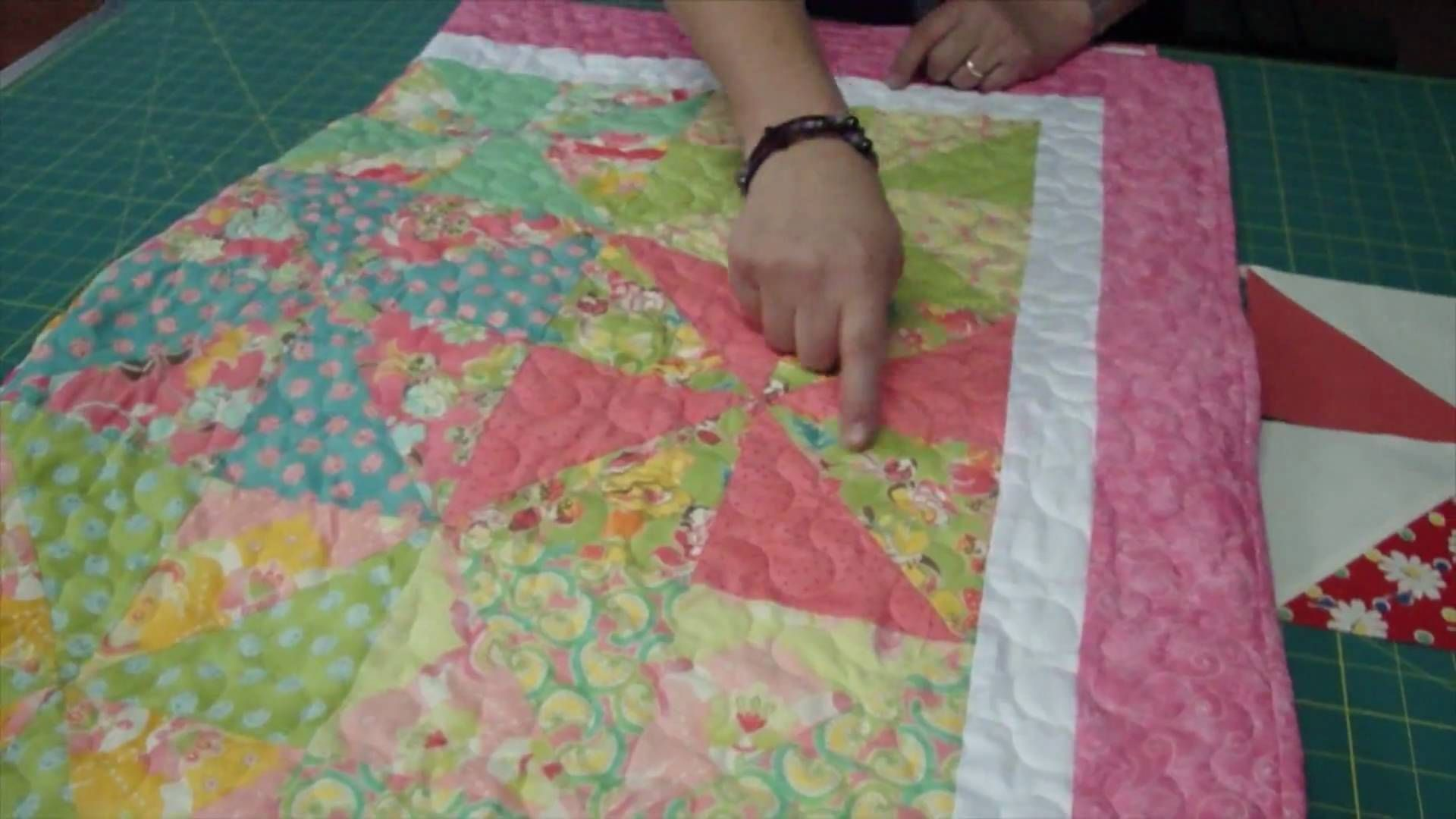 Make a pinwheel quilt with turnovers turnover week via youtube make a pinwheel quilt with turnovers missouri star quilt company video tutorial baditri Images