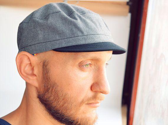 Fidel Kepi Cycling Cap, Army Cycling Hat, Grey and Black Hat ...