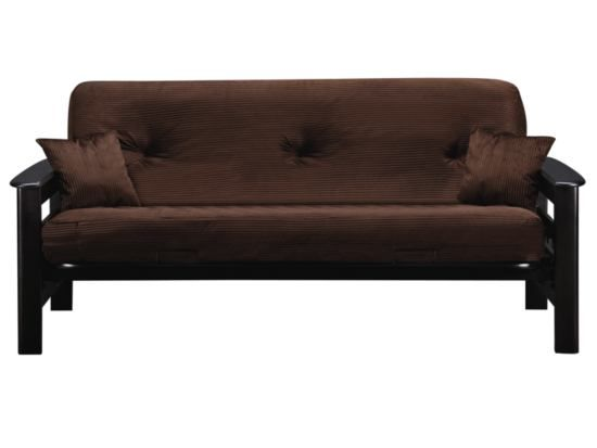 Tampa Chocolate Futon With Mattress Value City Furniture