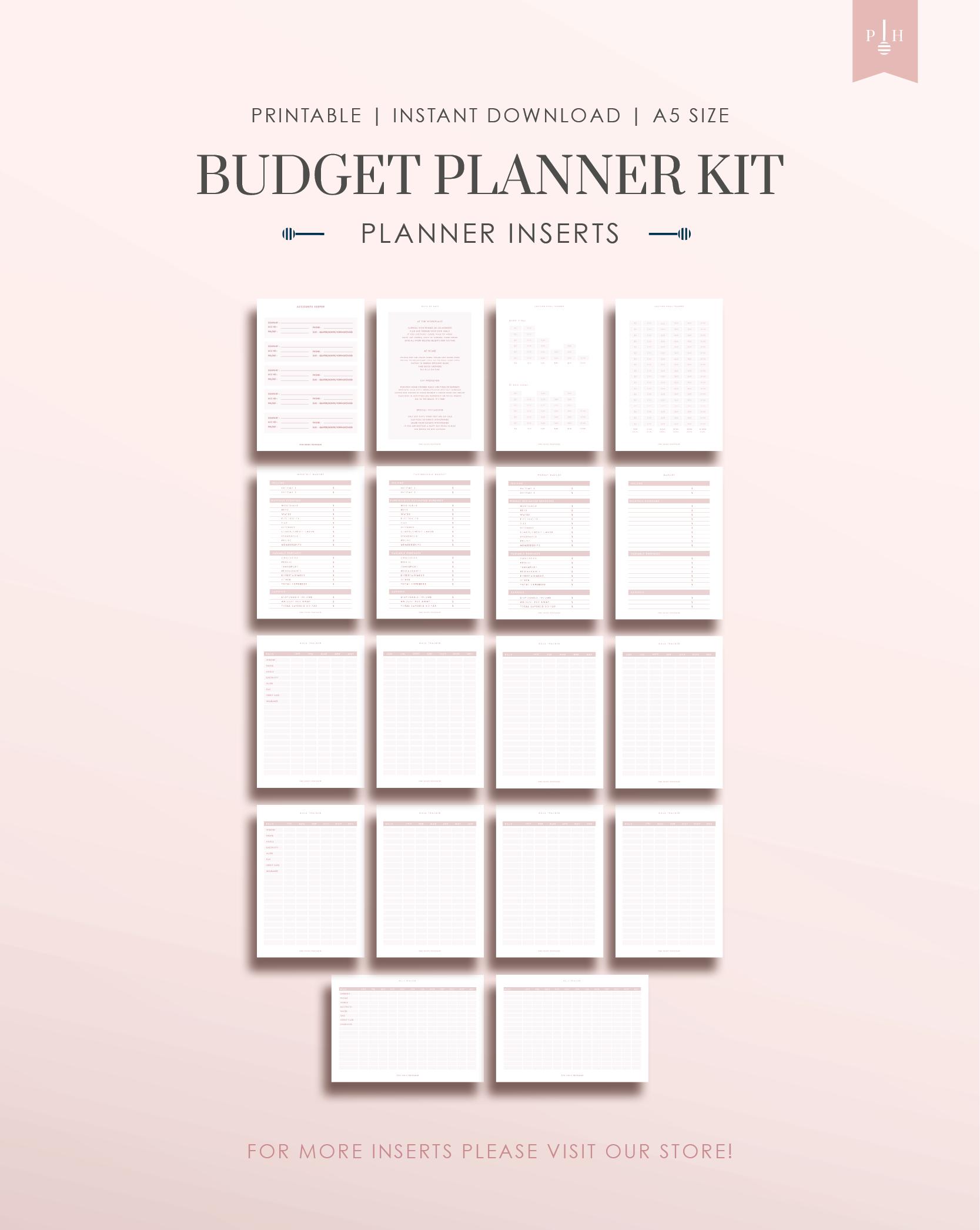 Printable Budget Planner Minimal Planner Budget Journal