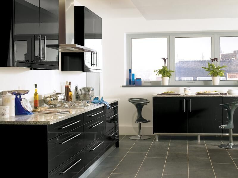 Best Black High Gloss Lacquer Kitchen Design Ipc431 High 400 x 300