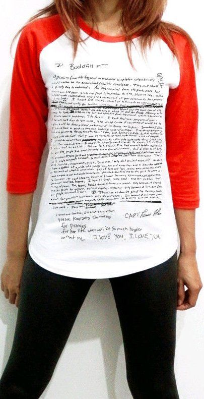 Pin for Later: Kurt Cobain's Suicide Note Just Became a T-Shirt?!