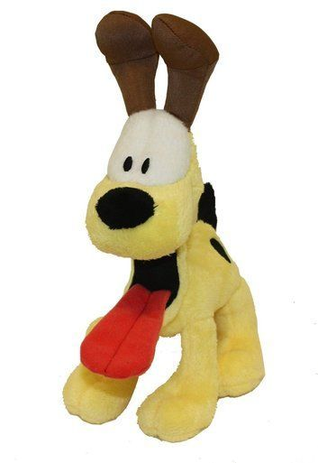 Multipet Classic Licensed Official Plush Odie Interactive Squeak