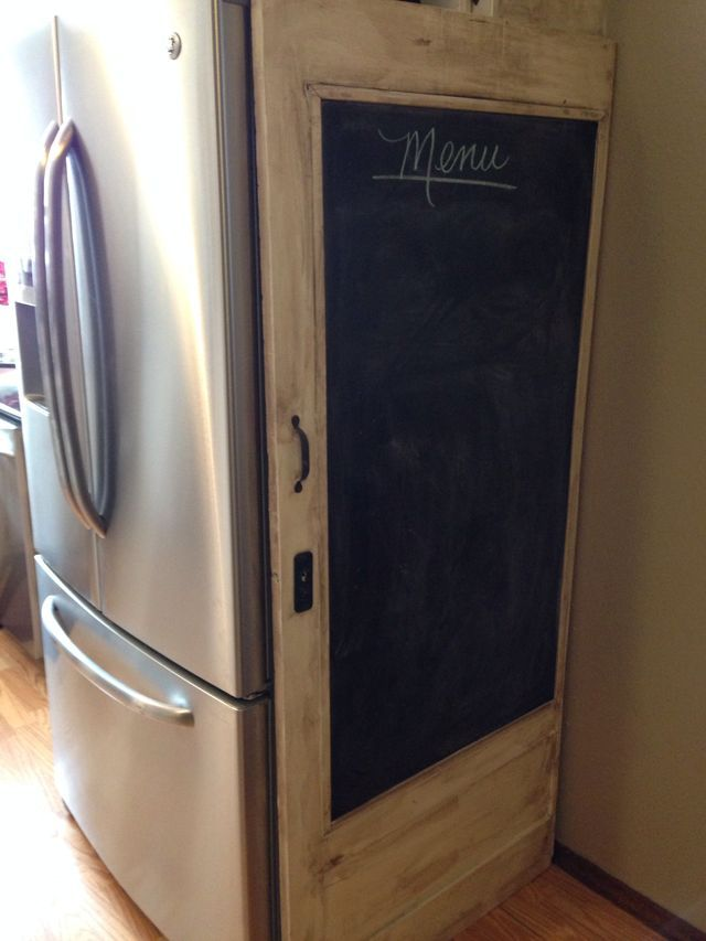 Best Old Screen Door W Diy Luan Insert Painted W Black Chalk 400 x 300