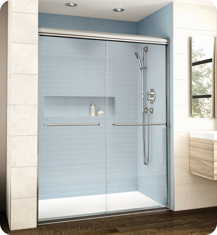 Fleurco El161 Banyo Cordoba Bypass Plus 61 Semi Frameless Sliding Shower Doors Shower Doors Frameless Sliding Shower Doors Sliding Shower Door