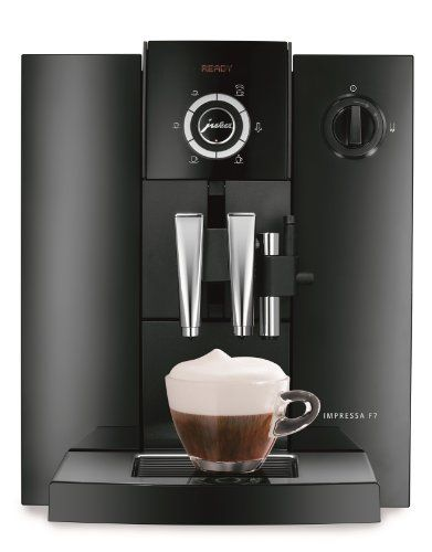 Jura Impressa F7 Piano Black Combination Espresso Machine ... #juracoffeemachine