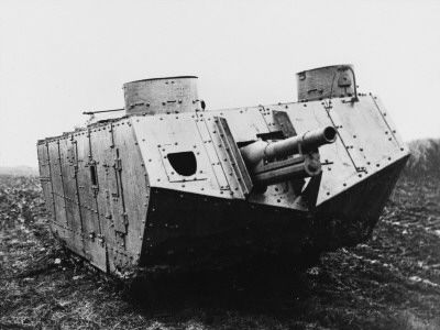 the tanks in WWI was not meant to be secret the were loud ...