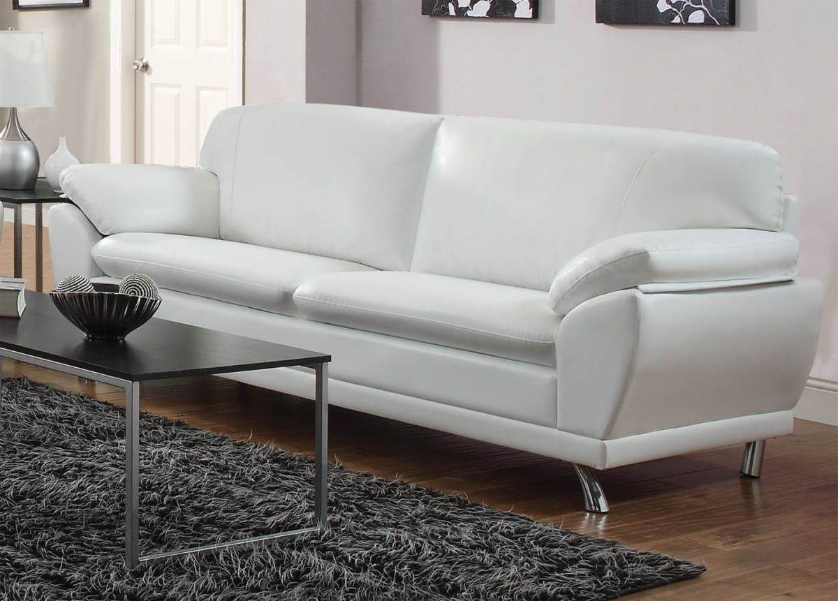 Incredible Robyn Contemporary White Bonded Leather Sofa Dream Pdpeps Interior Chair Design Pdpepsorg