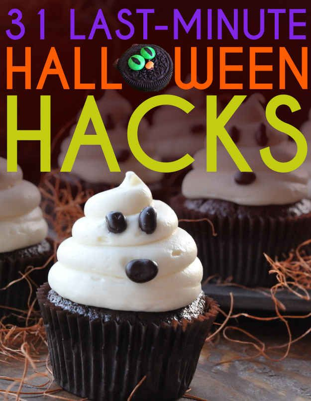 31 Last-Minute Halloween Hacks Holiday ideas Pinterest Easy - decorating ideas for halloween cupcakes