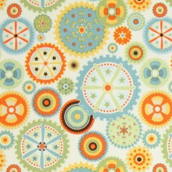 Amazon.com: Riley Blake Mod Tod Gears Cream Fabric Yardage: Arts, Crafts & Sewing