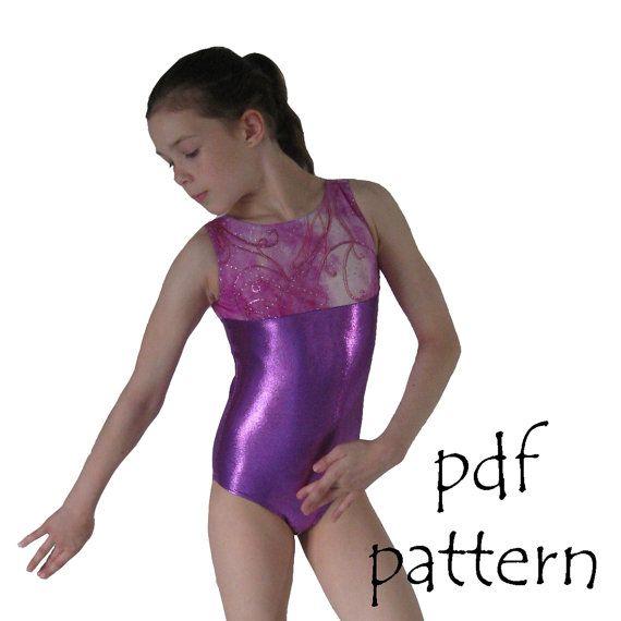 cd9f22a42285 Leotards 1 pdf sewing pattern gymnastics gym ballet dance girls ...