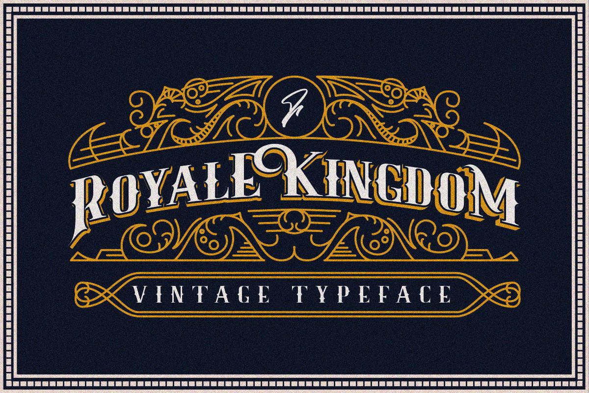 Royale Kingdom Vintage Typeface By Fathialghazi Thehungryjpeg Com Vintage Aff Kingdom Royale Thehungr Vintage Fonts Typeface Vintage Graphic Design