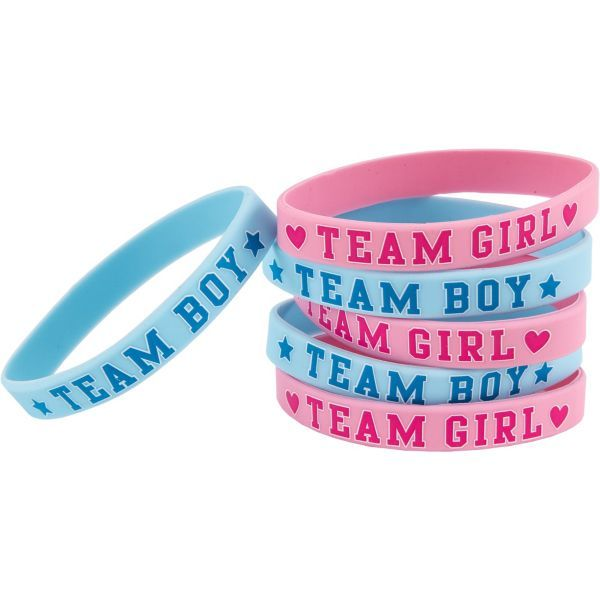 Girl or Boy Gender Reveal Wristbands 6ct