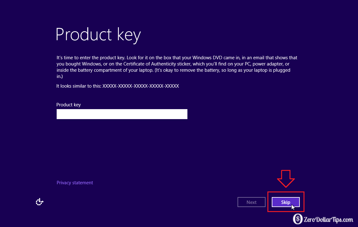 How to Install Windows 8 or Windows 10 without Product Key