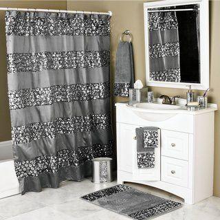 Luxury Shower Curtain And Hooks Set Or Separates Full Set