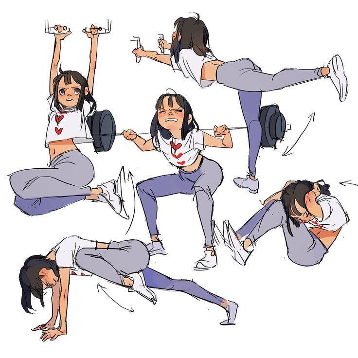 Meine Lieblingsbungen. . . #Zeichnen #Fitness #Gym #Mdchen #Kunst #Bill - #fitness #Kunst #lieblings...