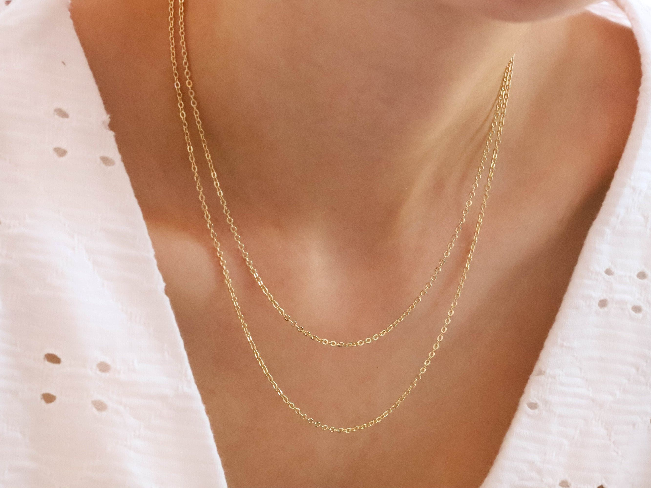 Gold Chain Necklace 14k Gold Necklace Gold Filled Necklace Etsy 14k Gold Necklace Gold Fill Necklace Gold Chain Necklace
