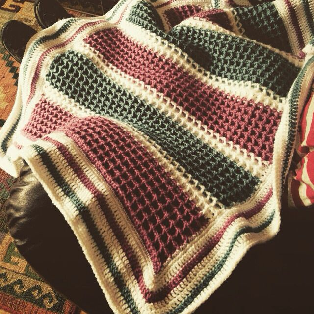 Crochet Waffle Stitch Blanket Crochet Waffle Stitch