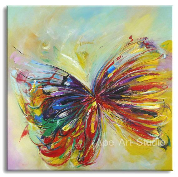 Butterfly Oil Painting Butterfly Art Butterfly Decor Butterfly Painting Butterfly Wall Art Art Hand Painted Butterfly Painting Butterfly Art Butterfly Wall Art