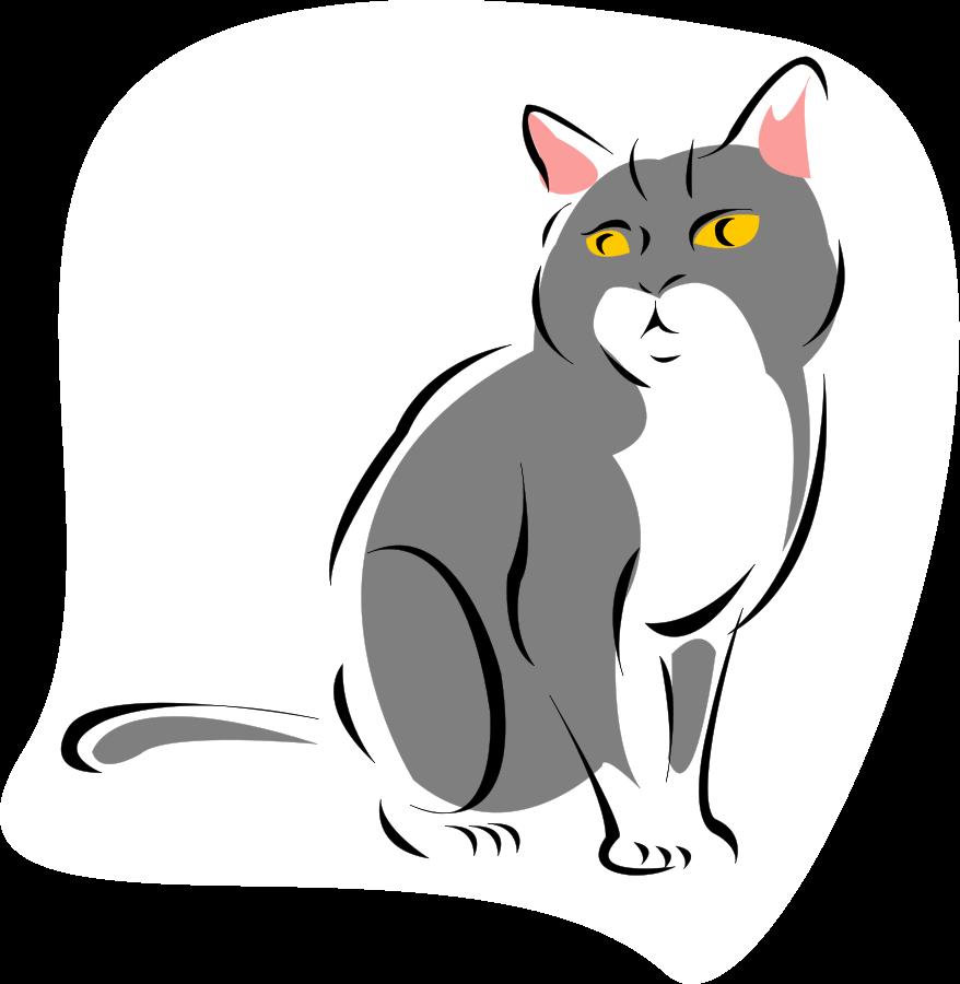 Картинка кот вектор