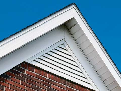 Triangle gable vents are a sleek style to help vent yoru attic ...
