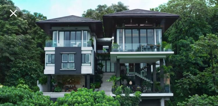 Crazy Rich Asian House Singapore Mansion Windows View Asian House Asian Interior Design Bali Style Home