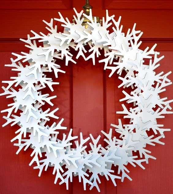 Ghirlande natalizie di carta cartone ritagliato per le - Decorazioni ghirlande natalizie ...