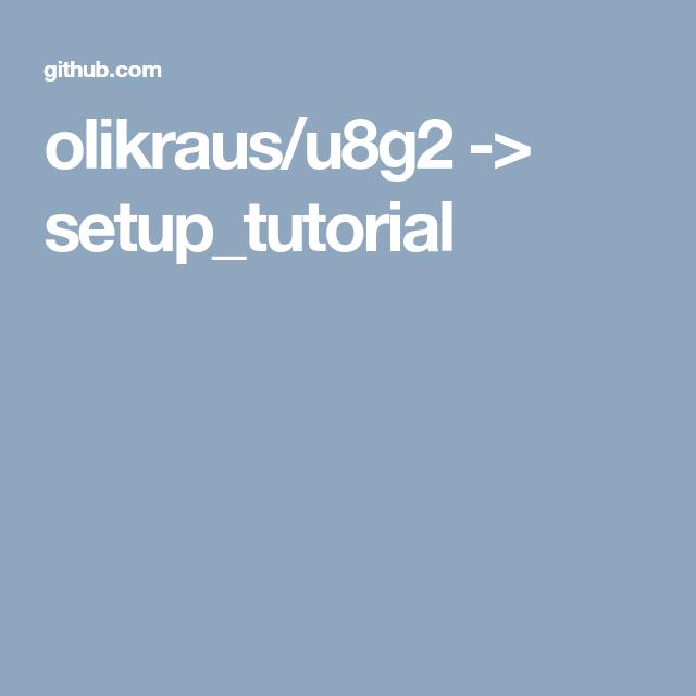 olikraus/u8g2 -> setup_tutorial | 5110 LCD NOKIA