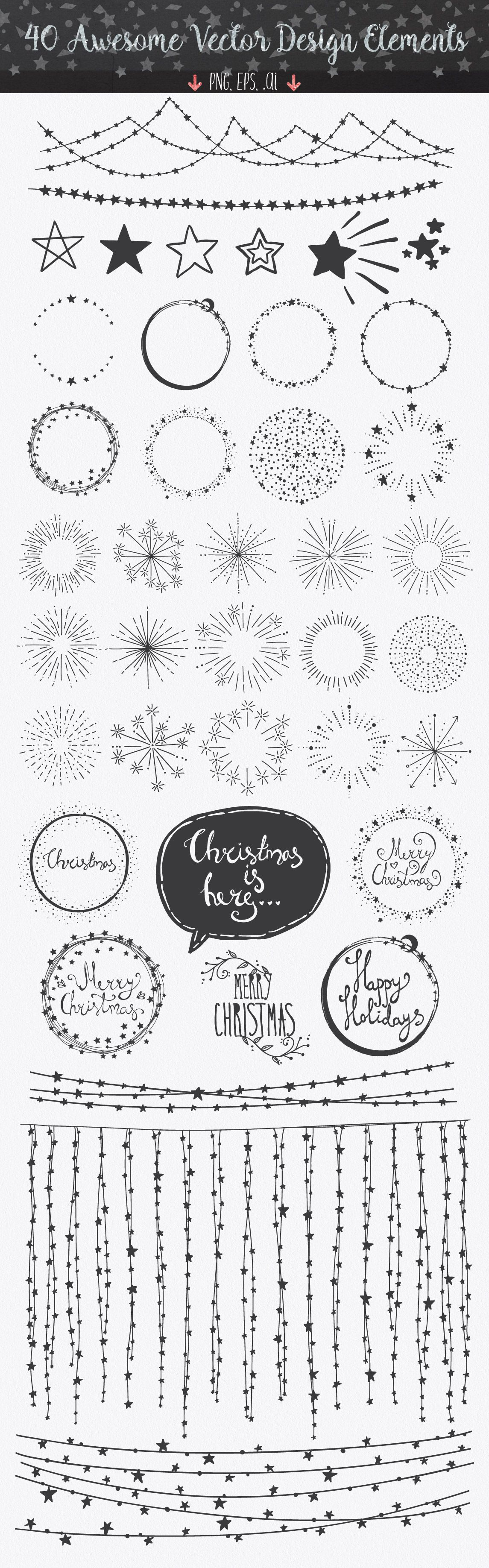 Confetti Brushes for Illustrator by lunalexx on @creativemarket