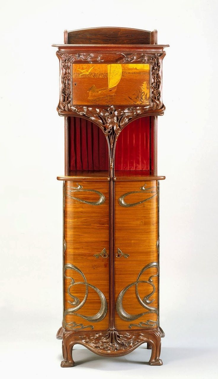 Cabinet, Indianapolis Museum of Art, about 1900. Art Nouveau  FurnitureAntique ... - Cabinet, Indianapolis Museum Of Art, About 1900 Home : Furniture
