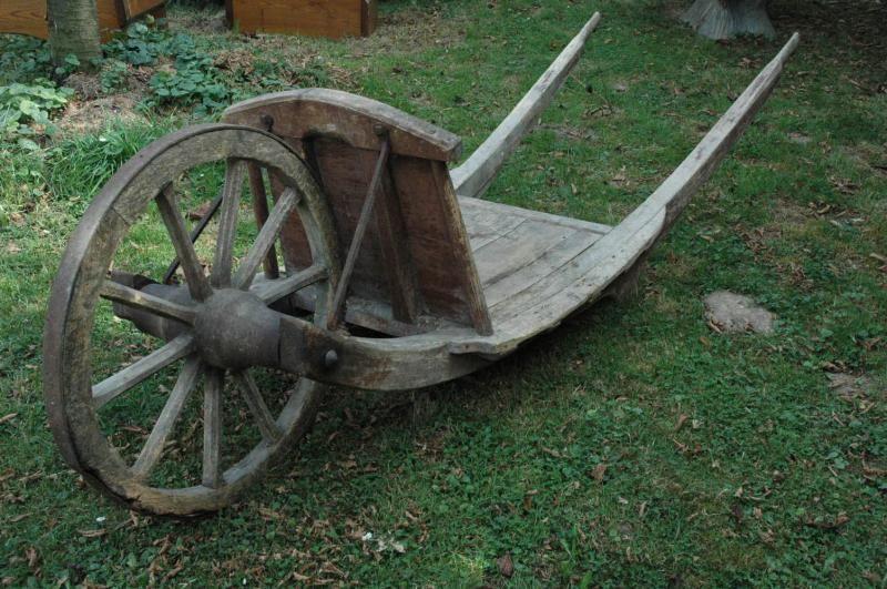 French Antique Wooden Wheelbarrow Wooden Wheelbarrow Wheelbarrow French Antiques