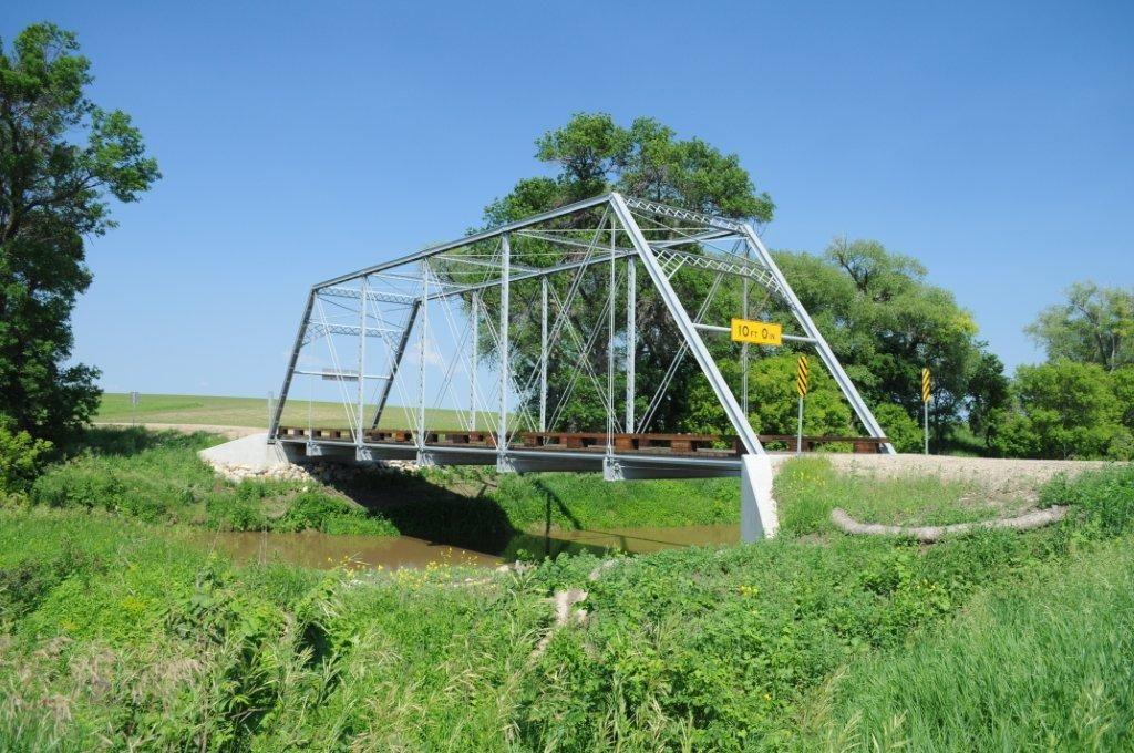 Historic Viking Bridge near Portland, North Dakota North