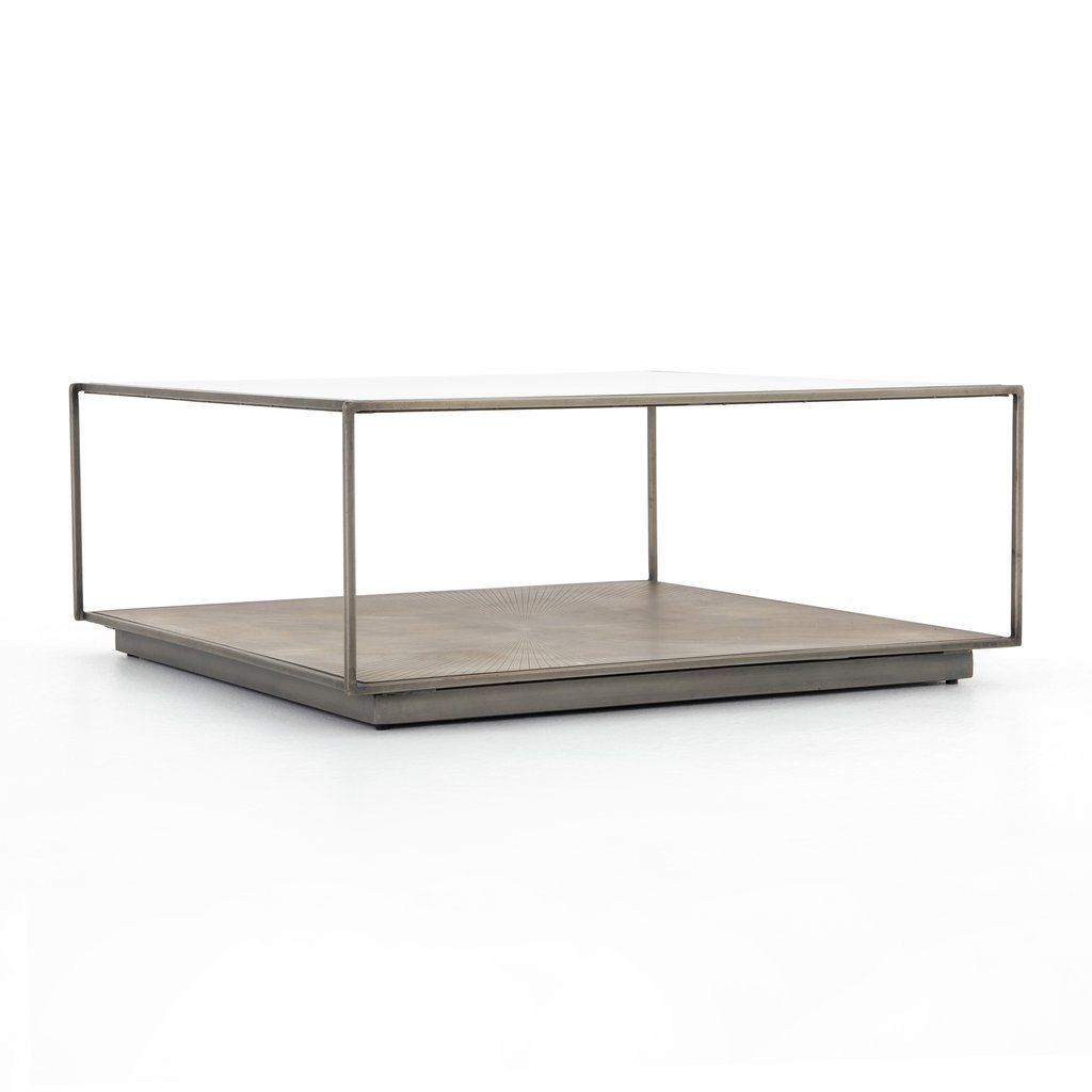 Abel Sunburst Square Coffee Table Coffee Table Square Coffee Table Glass Enclosure [ 1024 x 1024 Pixel ]